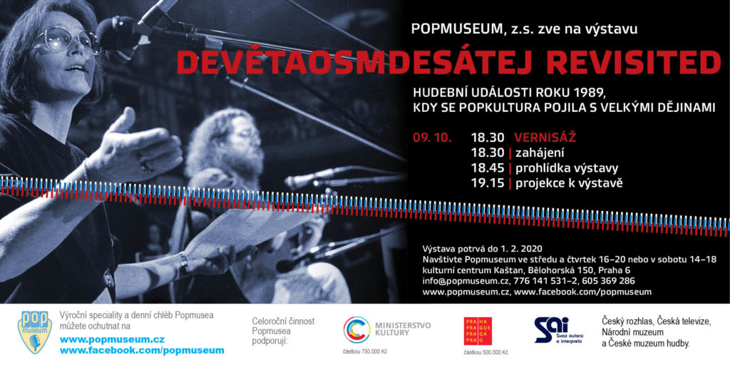 Pozvánka na vernisáž nové výstavy Popmusea 9. 10. 2019